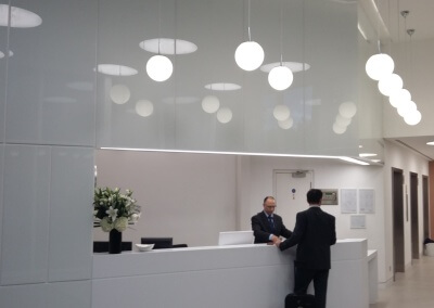 RECEPTION AREA LIGHTING