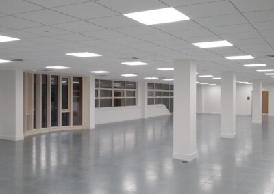 LED panel lights office space